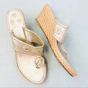 { JACK ROGERS } Wedges Heels Slip On Sandals Shoes